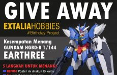 GIVE AWAY GUNDAM HG EARTHREE BANDAI – 6-14 Juni 2020